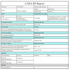8d report format template 28 images of 8d corrective report template infovia net