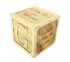 personalized wooden gifts custom engraved big wood baby birth block 2 5