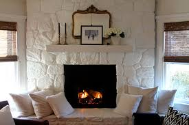 painted stone fireplace most lovely things