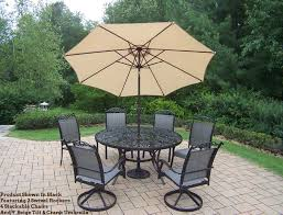 Patio Round Tables Cascade 9 Pc Patio Dining Set 60