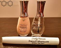 review diamond strength sally hansen french manicure pen kit