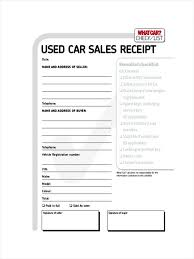 5 receipt for sale of car resumes great vehicle sales template