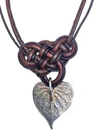 leather necklace knot images Sweet potato heart leather necklace augusta angeline jewelry png