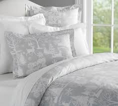 frosted forest duvet cover u0026 sham pottery barn