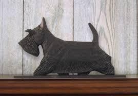 scottish terrier figurine sign plaque display wall decoration