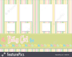 baby girl photo album templates baby girl album stock illustration i2404744 at