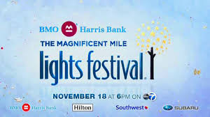 magnificent mile lights festival 2017 bmo harris bank magnificent mile lights festival abc7chicago com
