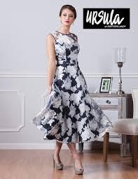 tea length dress ursula 11424t tea length floral print mob dress novelty