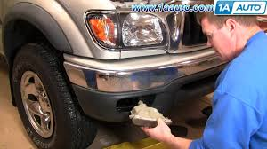 2002 toyota tacoma front bumper how to install replace bumper signal lights toyota tacoma 01 04