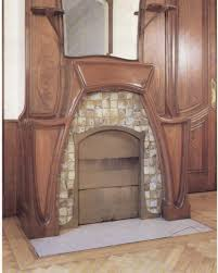 art nouveau fireplace surround art by becky christenson