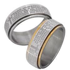 bible verse rings 3 band wedding ring bible verse