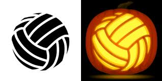 free volleyball pumpkin stencil