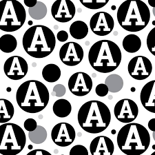 black and white wrapping paper premium gift wrap wrapping paper roll pattern letter initial black