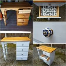 Upcycled Vanity Table with Pine Chest Of Drawers Makeover Paintobsessed Home Pinterest
