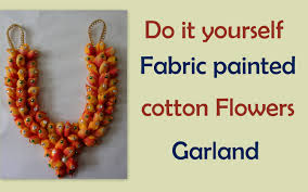 do it yourself cotton flowers garland youtube