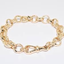 Gold Monogram Bracelet 9ct Faceted U0026 Engraved Belcher Bracelet