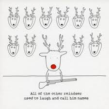 humorous christmas cards christmas cards other reindeer used to call him names