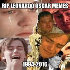 Leo Oscar Meme - 2016 the year of the meme