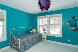 minneapolis teal blue bedroom craftsman with mirror interior
