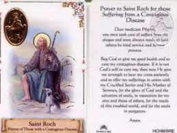 card for sick person prayer roch for suffering from disease sick illness wallet