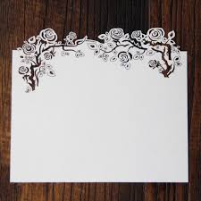 Blank Invitations Hollow Laser Cut Rose Rsvp Blank Invitation Cards With