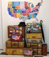 Oregon traveling bags images Decorating old luggage with vintage travel stickers jpg