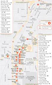 Downtown Las Vegas Map by Las Vegas Map Most Popular Shows Guide Theatres Lv Nevada