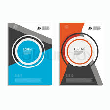 cover layout com vector leaflet brochure flyer template a4 size design annual report