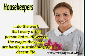 woman looking for housekeeping job realizes she has major