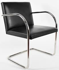 Black Leather Chairs For Sale Tubular Brno Chair In Black Leather By Knoll For Sale At 1stdibs