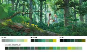 Green Color Palette by Movies In Color