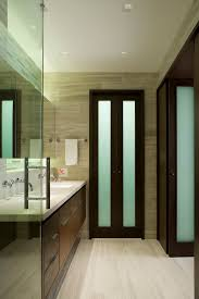 Bi Fold Doors For Closets Bifold Bathroom Door Bathroom Contemporary With Walnut
