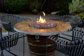 wine barrel fire pit table home inspiration