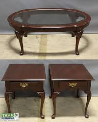 ethan allen end tables tays realty auction auction november wh item two ethan allen