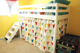 loft beds kids loft bed tent bunk for girls with slide and