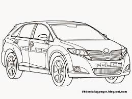car coloring pages printable printable police car coloring pages