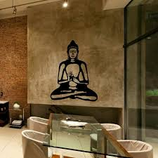 buddhist home decor aliexpress com buy buddha wall decal cute vinyl sticker home