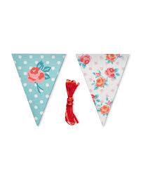 Pretty Bunting Flags Pretty Floral Bunting Aldi Uk