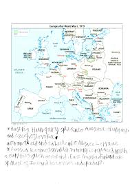 Europe After Ww1 Map changes in europe u0027s countries after wwi jack u0027s history journal