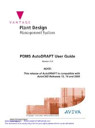 pdms autodraft user guide pdf auto cad license