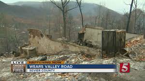 Wildfire Map Valley Fire by Structures In Wears Valley Destroyed In Wildfire Youtube