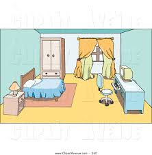Bedroom Furniture Desks by Avenue Clipart Of A Bedroom Furniture Nightstand Bed And