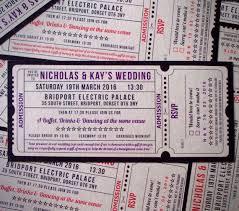 Movie Ticket Wedding Invitations 9 Best Invitations Images On Pinterest Ticket Design Ticket