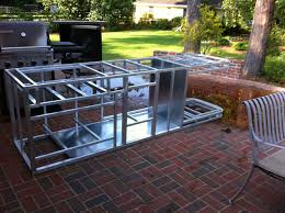 metal framing for outdoor kitchen trends including ft island frame