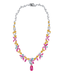 pink jewelry necklace images Georgette floral pink pendant necklace ciro jewelry black tie png