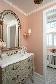 French Bathroom Decor Rlh Studio Elegant Pink Bathroom With Blush Pink Grasscloth