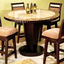Furniture  Cute Winfred Counter Height Dining Table Cherry Acme - Tropical dining room sets counter height