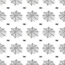 white and and black halloween background halloween background hand drawn doodle spider spider web seamless