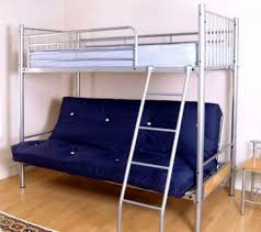 Bunk Beds  Queen Loft Bed Metal Bunk Beds With Futon Bunk Beds - Full size bunk bed with futon on bottom