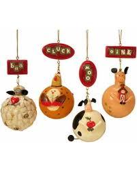 bargains on kurt s adler 4 75in 4pc farm animal ornaments